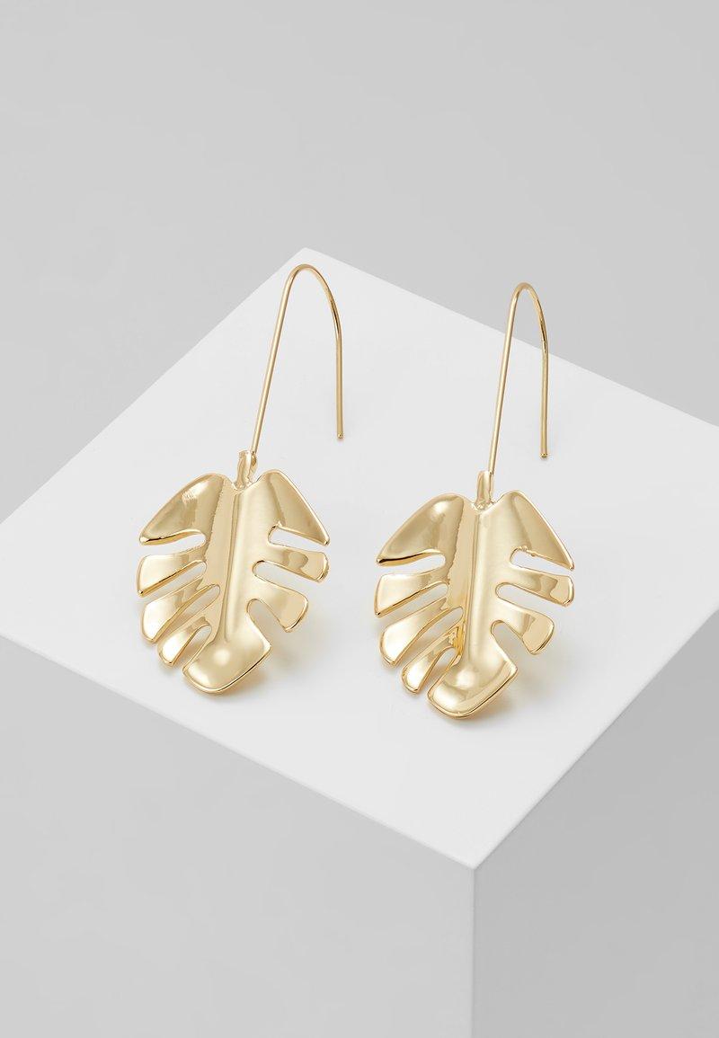 SNÖ of Sweden - HYDE LEAF PENDANT EAR PLAIN - Earrings - gold-coloured