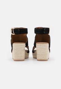 River Island Wide Fit - Platform sandals - black - 3