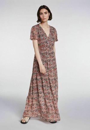 Maxi dress - white red