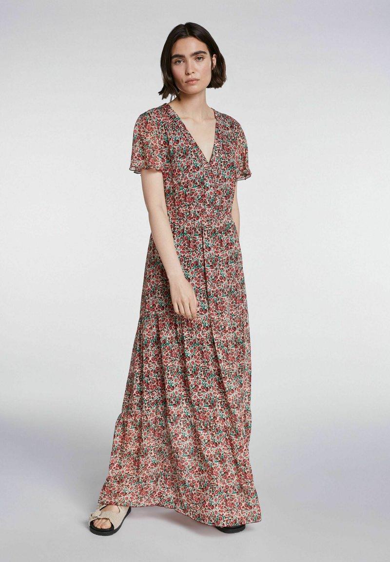 SET - Maxi dress - white red