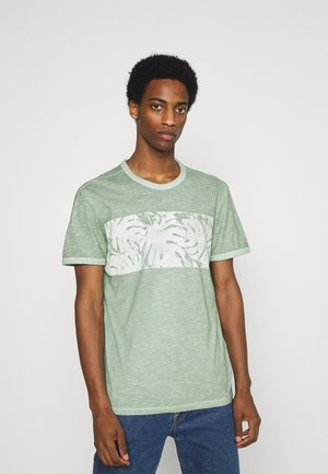 OVERDYED PANEL  - Printtipaita - light mint green