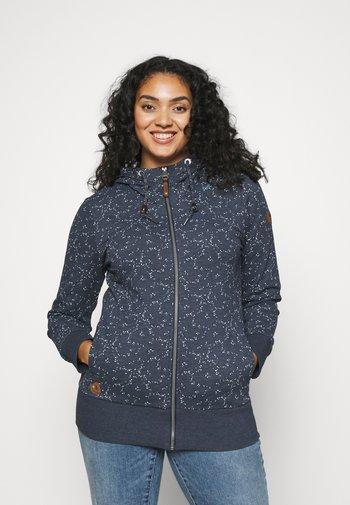YODA ORGANIC - Zip-up sweatshirt - navy