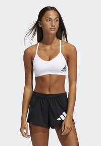 adidas Performance - BRA - Light support sports bra - white/black - 0