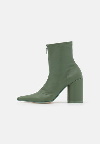 STIVALETTO - High heeled ankle boots - sea spray