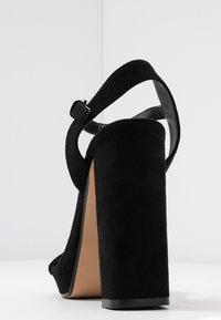 Topshop Wide Fit - WIDE FIT SABINE PLATFORM - High heeled sandals - black - 5