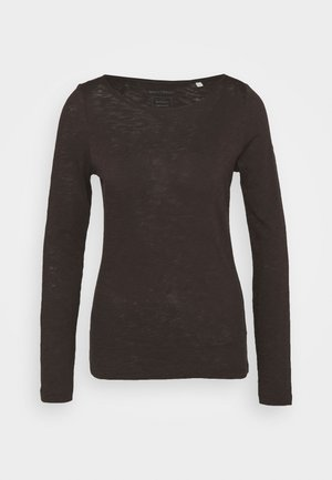 Long sleeved top - dark chocolate