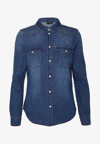 VMMARIA SLIM  - Button-down blouse - medium blue denim