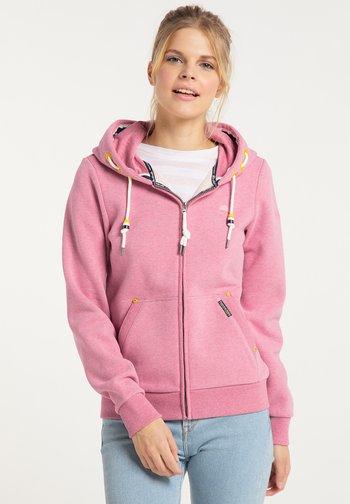 Zip-up sweatshirt - sorbetrot melange