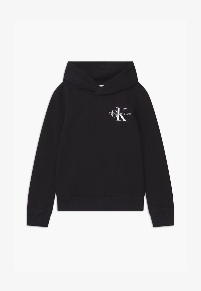 Calvin Klein Jeans - SMALL MONOGRAM HOODIE UNISEX - Hoodie - black