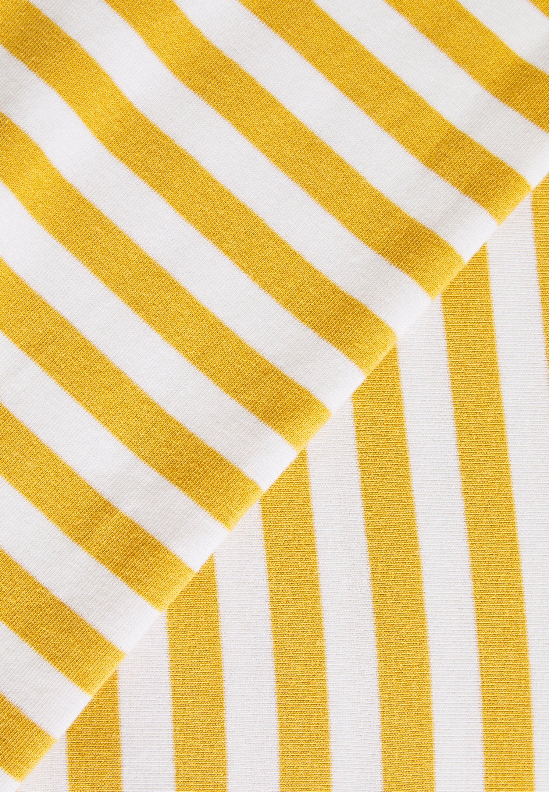 TOM TAILOR DENIM Camiseta de manga larga - yellow/white 4nKZL