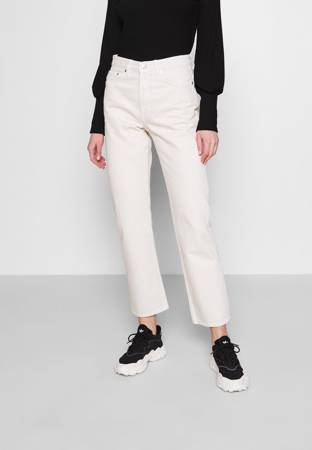 VOYAGE MORNING - Straight leg jeans - tinted ecru