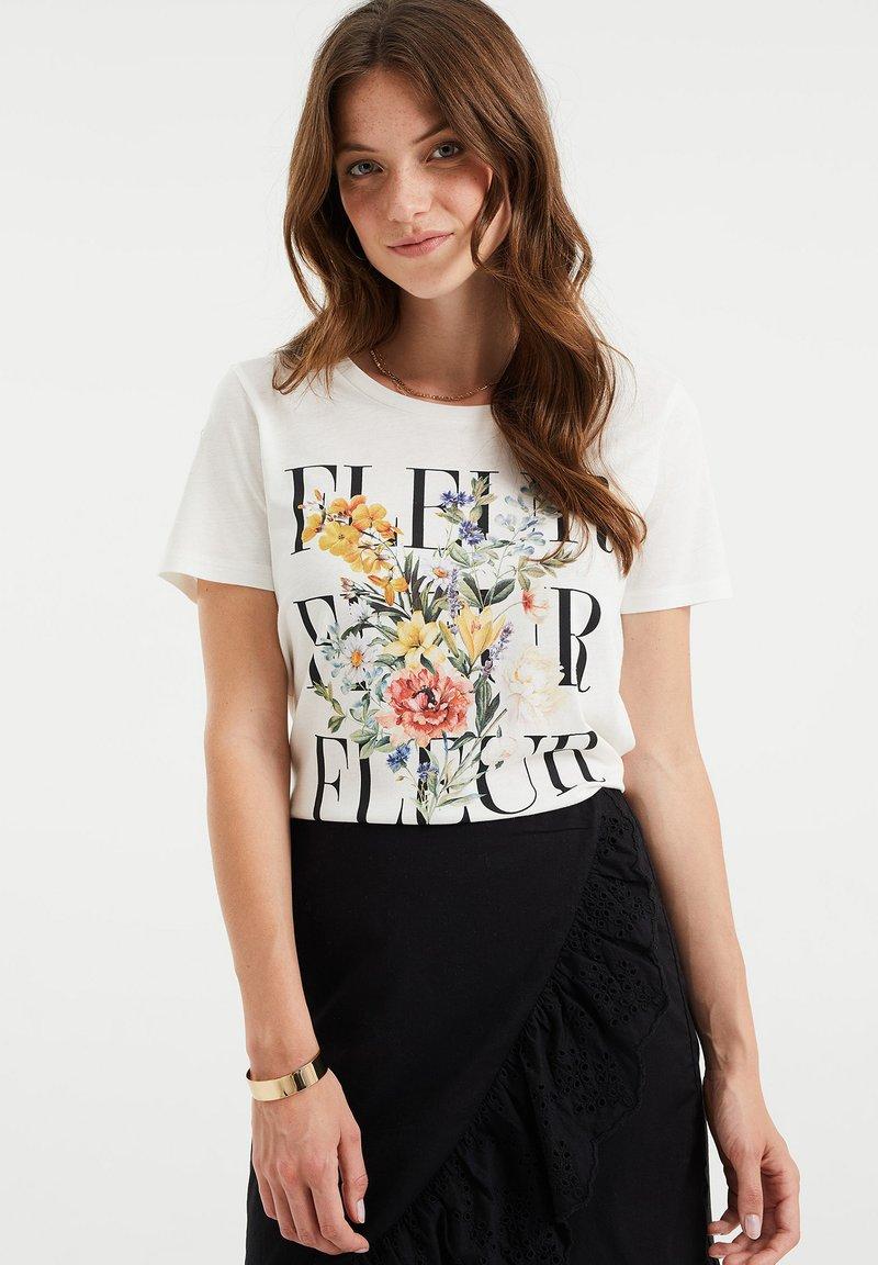 WE Fashion - Print T-shirt - white