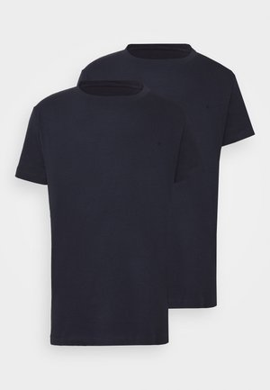 2 PACK - T-shirt basic - navy/navy