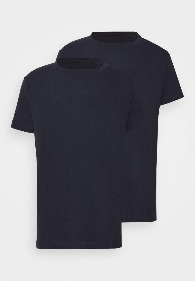 2 PACK - T-shirt basic - navy/navy