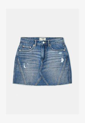 HIGH WAIST - A-line skirt - blu