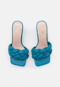 RAID - SANDRA - Pantofle na podpatku - blue - 5