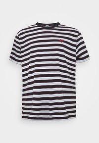 STRIPED TEE - Print T-shirt - dark navy