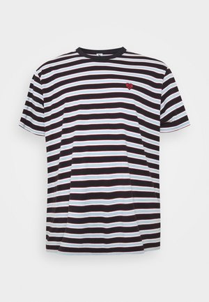 STRIPED TEE - T-shirt print - dark navy