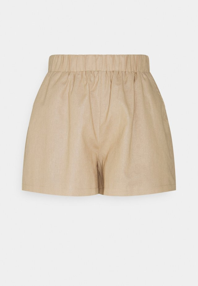 ELASTIC WAIST - Shorts - beige