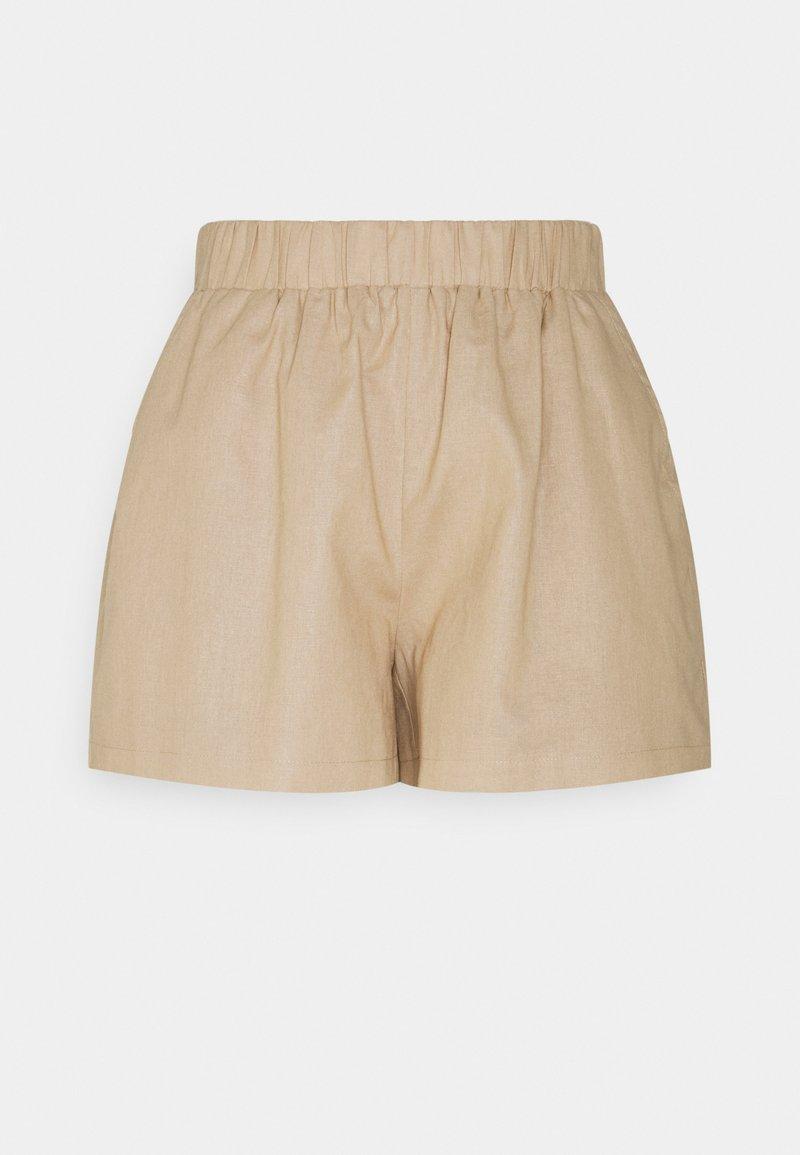 NA-KD - ELASTIC WAIST - Shorts - beige