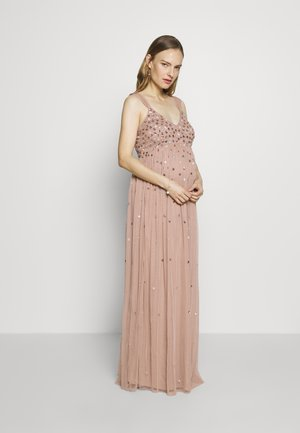 CLUSTER SEQUIN EMBELLISHED DRESS - Vestido de fiesta - taupe blush