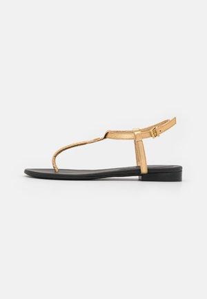 ALESSA METALLIC - Sandály s odděleným palcem - gold