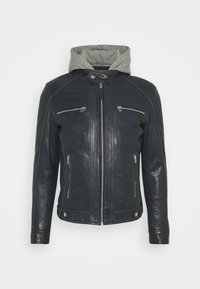 Serge Pariente - ERIK HOOD - Leather jacket - blue - 0