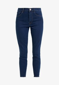 HIGH RISE CROP - Džíny Slim Fit - dark blue denim