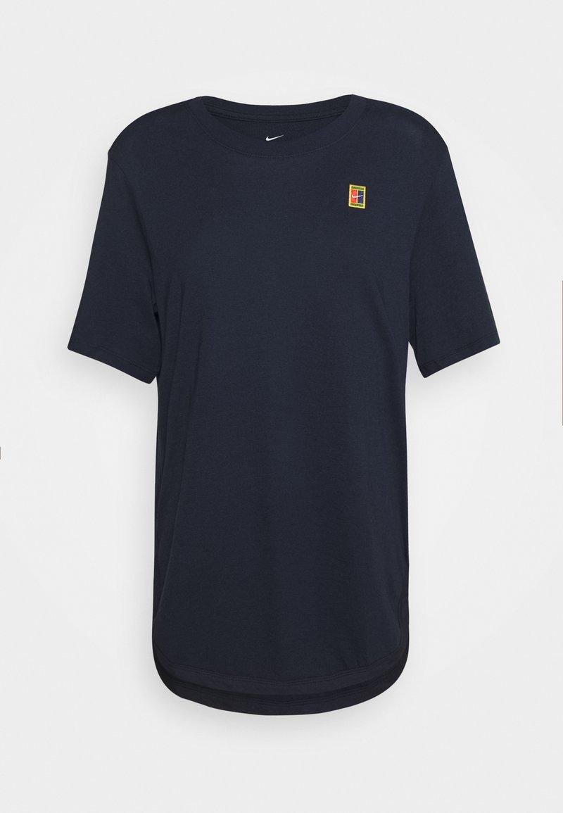 Nike Performance - TEE COURT - T-shirt basic - obsidian