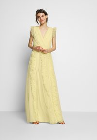 Anaya with love - V NECK FLUTTER SLEEVE DRESS WITH RUFFLE - Occasion wear - lemon - 2