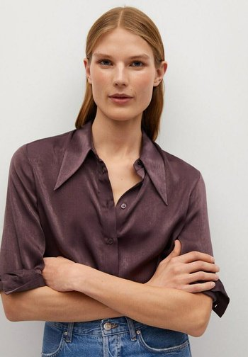 LARGUI-I - Button-down blouse - violeta