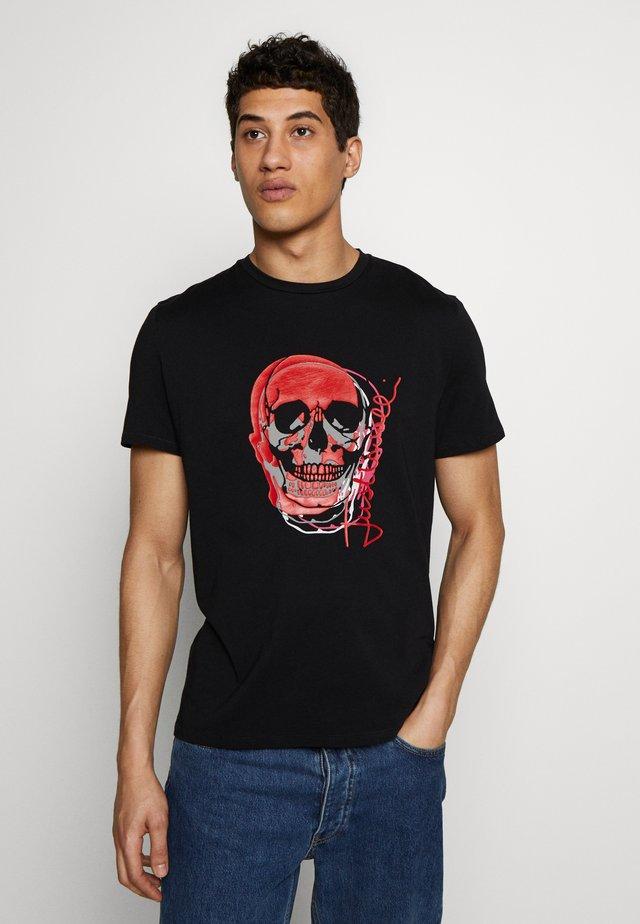 SKULL - T-shirt con stampa - black