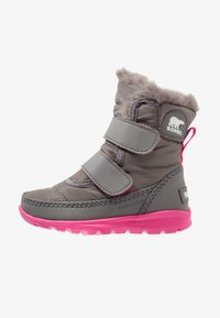 Sorel - WHITNEY VELCRO - Talvisaappaat - quarry/ultra pink - 0