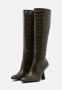 Jeffrey Campbell - HUXTABLE - Vysoká obuv - khaki/stone - 2