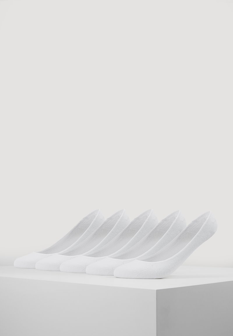 Urban Classics - INVISIBLE SOCKS 5 PACK - Trainer socks - white