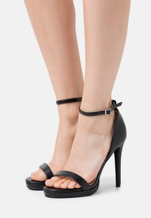 WIDE FIT CRESSIDA - Platform sandals - black