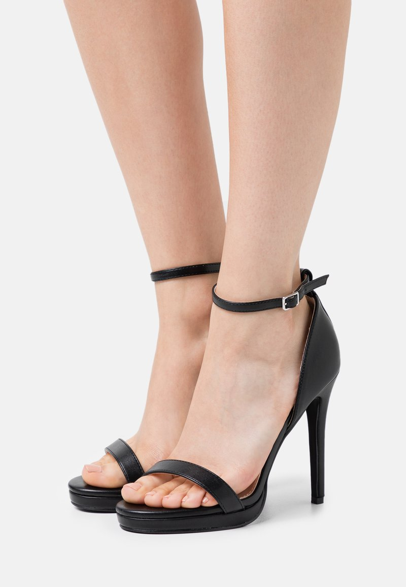 RAID Wide Fit - WIDE FIT CRESSIDA - Platform sandals - black