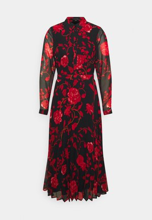 KLEID - Day dress - black/red