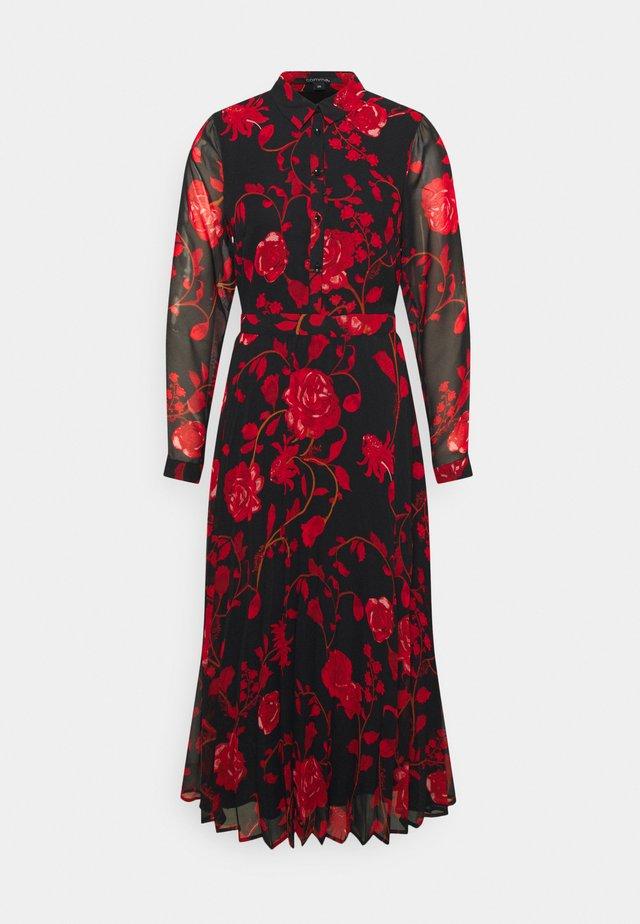 KLEID - Denní šaty - black/red