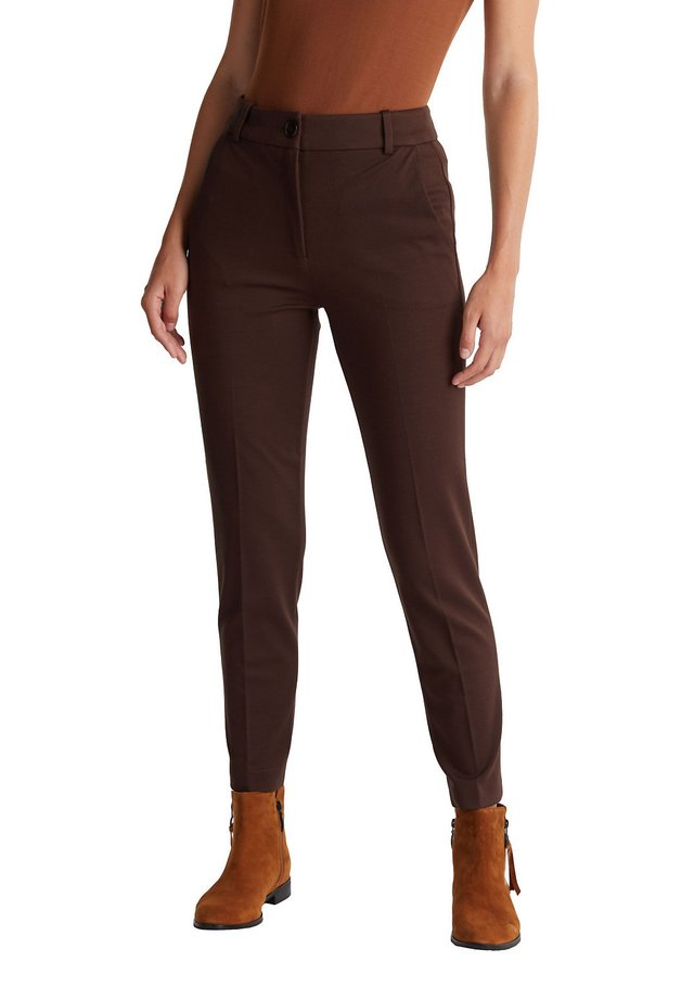PUNTO - Trousers - dark brown