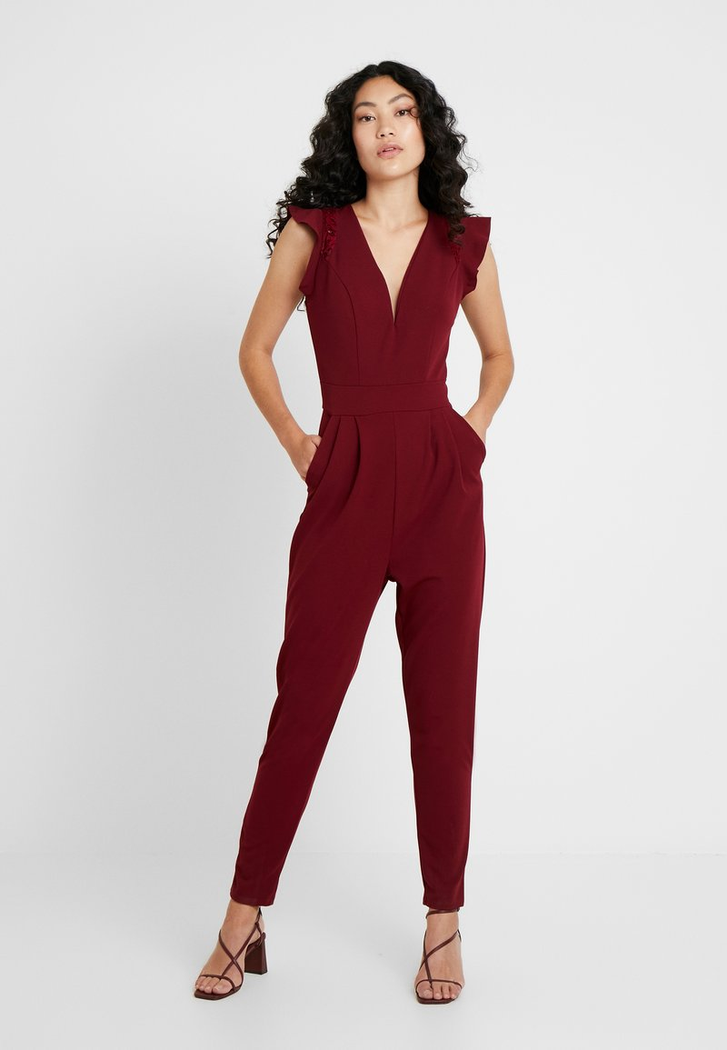WAL G TALL - Jumpsuit - burgundey