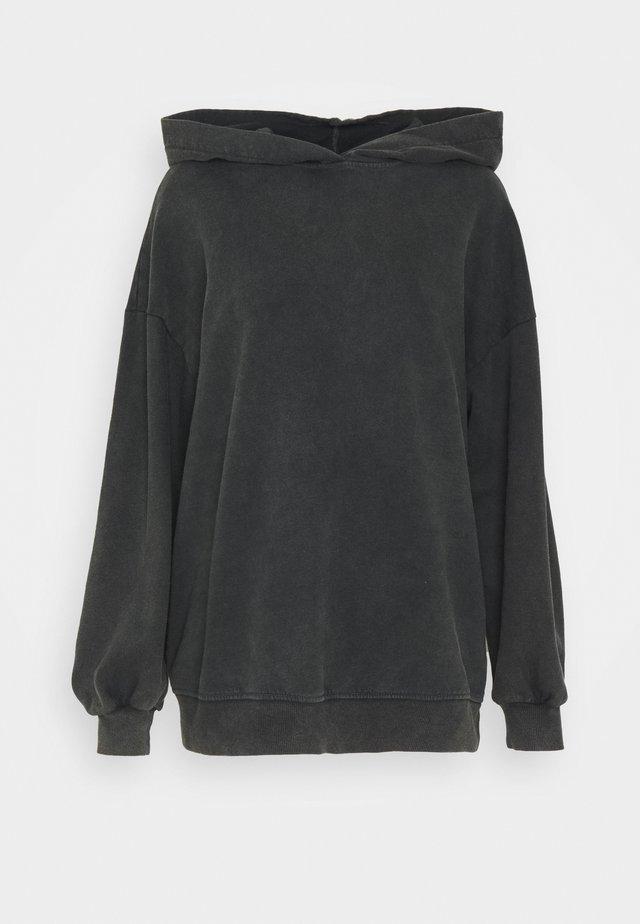 NEA HOODIE - Sweater - washe dark black