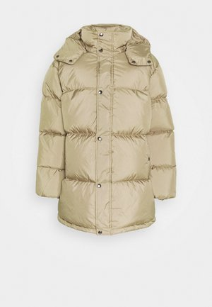 GROW UP JACKET - Daunenmantel - beige