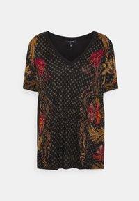 Desigual - PRAGA - T-shirts med print - black - 0