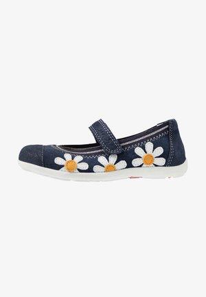 MARTA - Ankle strap ballet pumps - navy