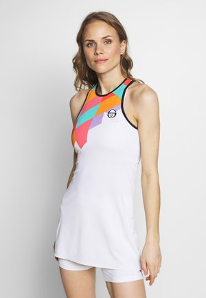 TANGRAM DRESS - Sports dress - white/multicolor