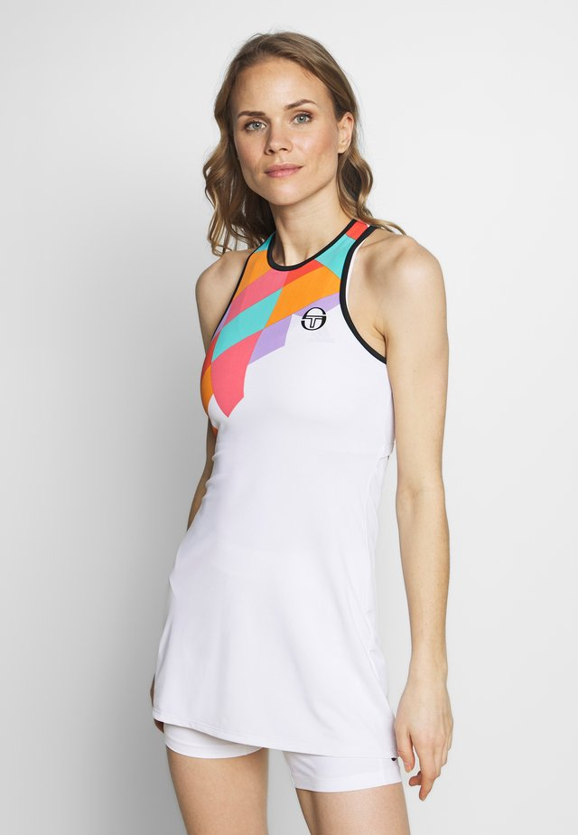 TANGRAM DRESS - Urheilumekko - white/multicolor