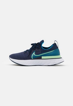 REACT INFINITY RUN FK - Laufschuh Neutral - college navy/cucumber calm/blue orbit/white