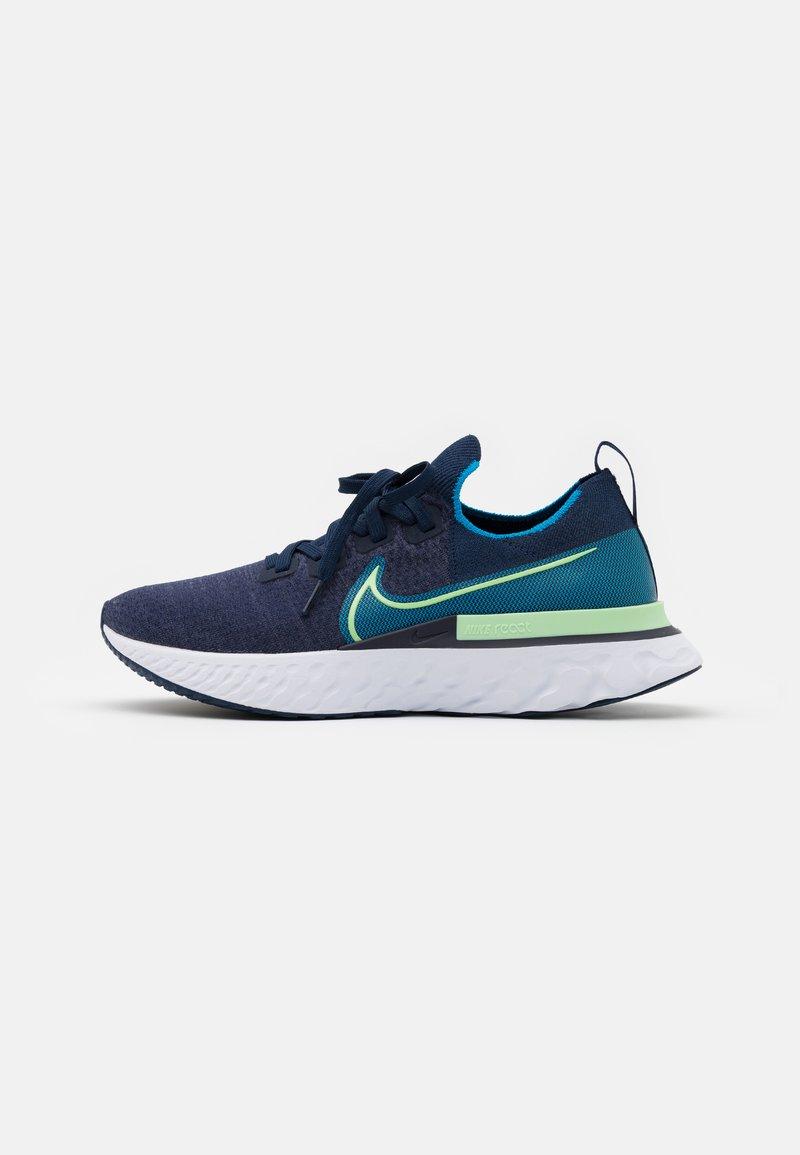 Nike Performance - REACT INFINITY RUN FK - Neutrala löparskor - college navy/cucumber calm/blue orbit/white