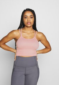 Cotton On Body - SEAMFREE STRAPPY VESTLETTE - Top - soft cameo pink marle - 0
